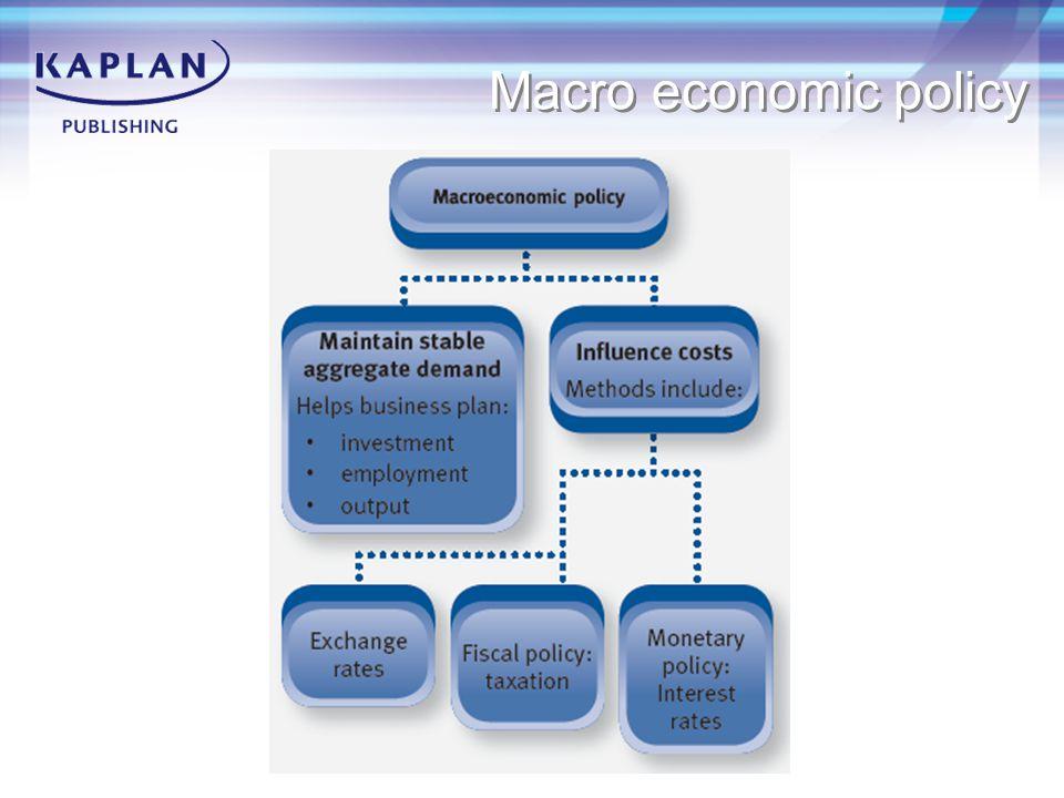 Macro economic policy