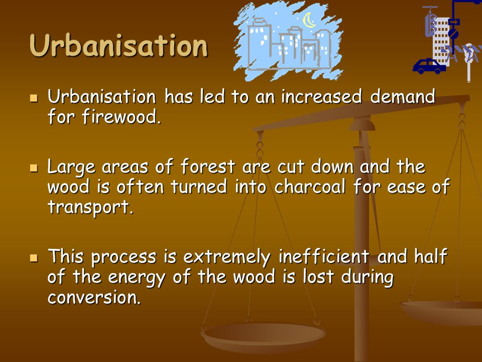Deforestation (2) The dung and crop residues would normally be used as fertiliser so the soil is further degraded as it is deprived of essential nutri
