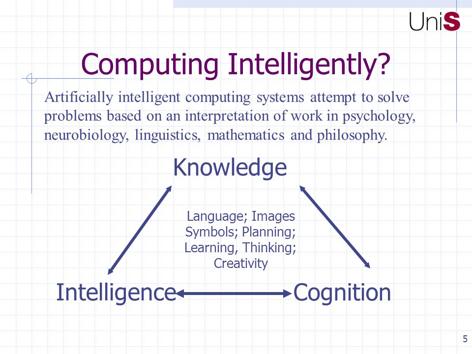 5 Computing Intelligently.