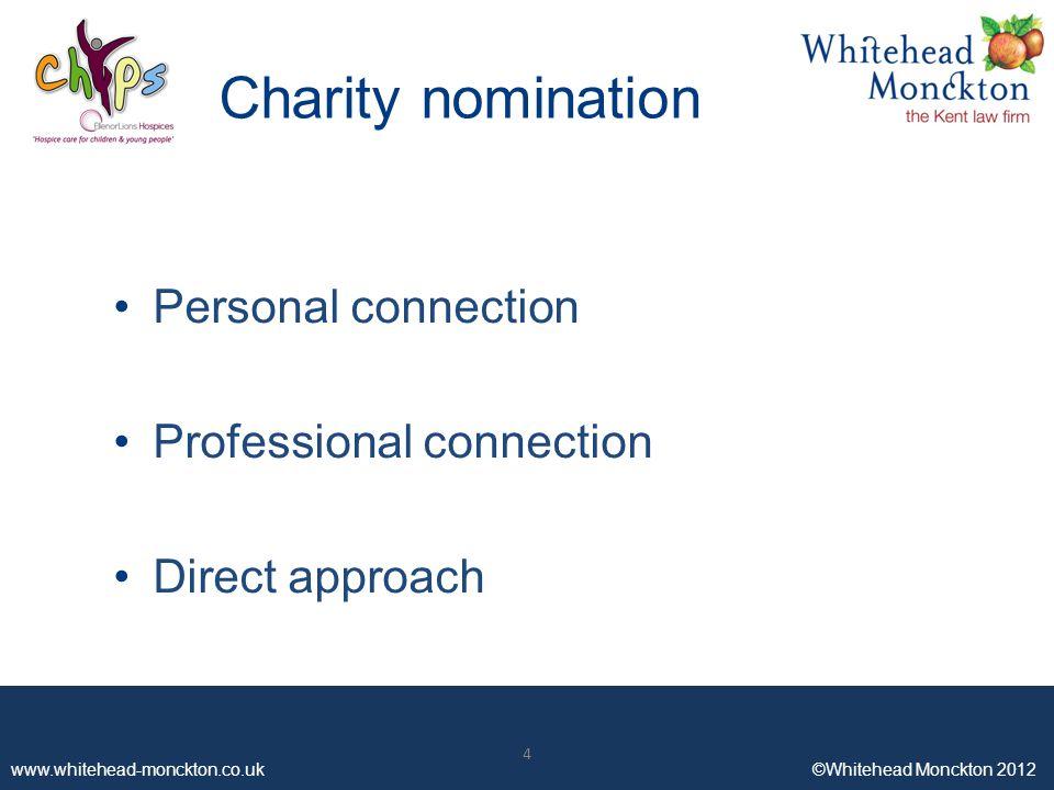 www.whitehead-monckton.co.uk ©Whitehead Monckton 2012 Working with Corporate Clients Advantages and Impact