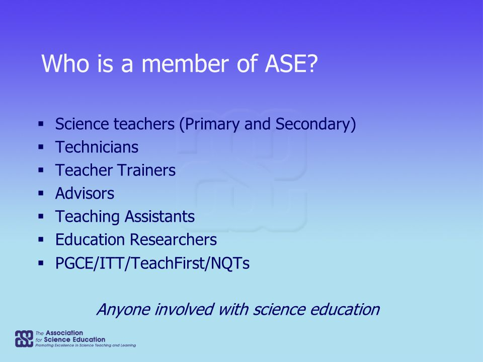 What can the ASE do for you?