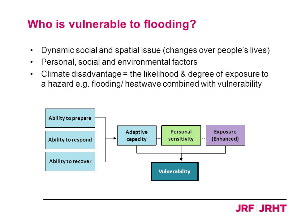Who is vulnerable to flooding.