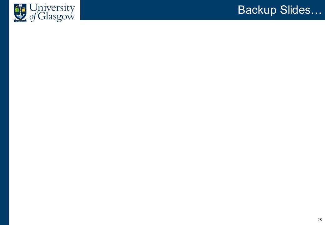 28 Backup Slides…