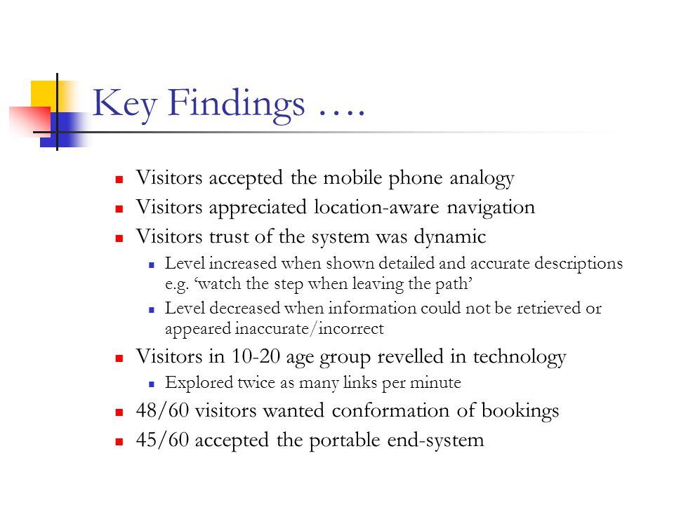 Key Findings ….