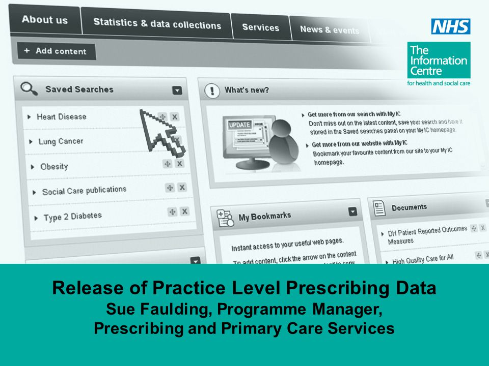 Release of Practice Level Prescribing Data Sue Faulding, Programme Manager, Prescribing and Primary Care Services