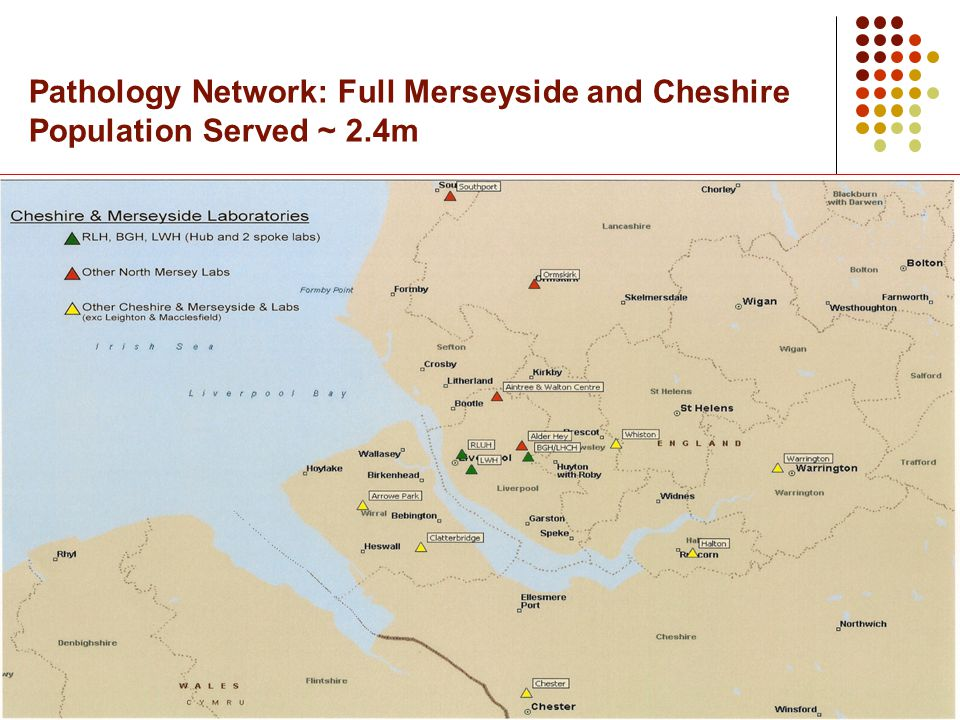 Pathology Network: Full Merseyside and Cheshire Population Served ~ 2.4m