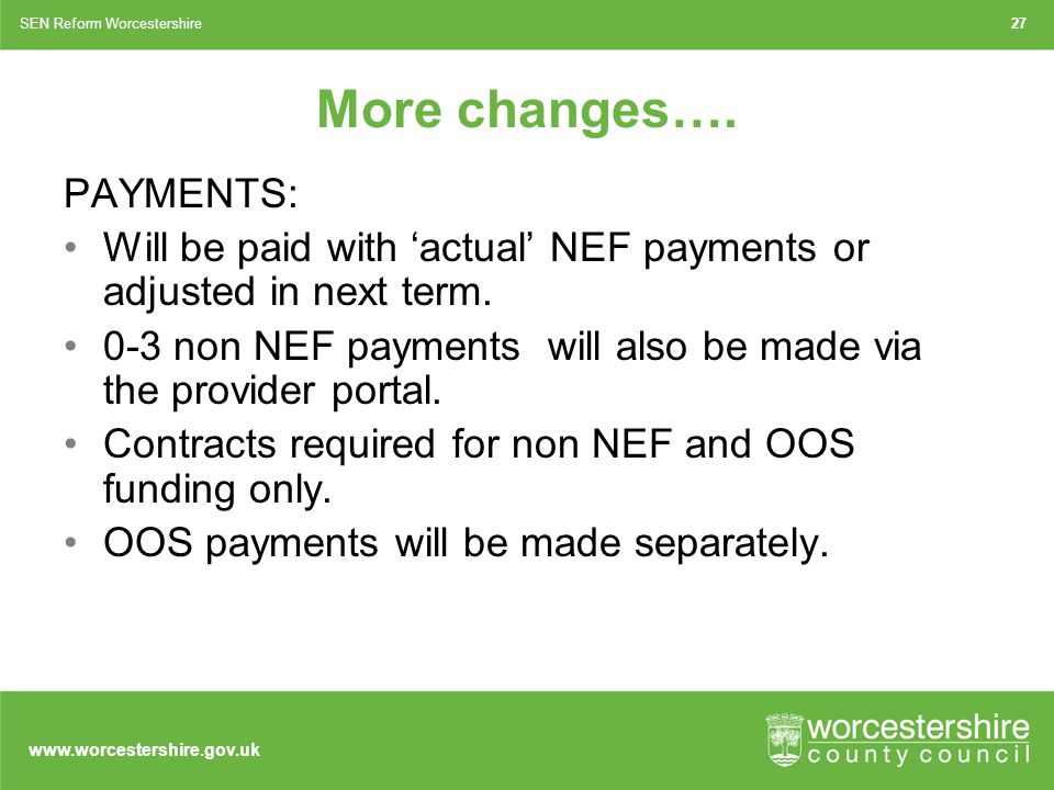 www.worcestershire.gov.uk More changes….