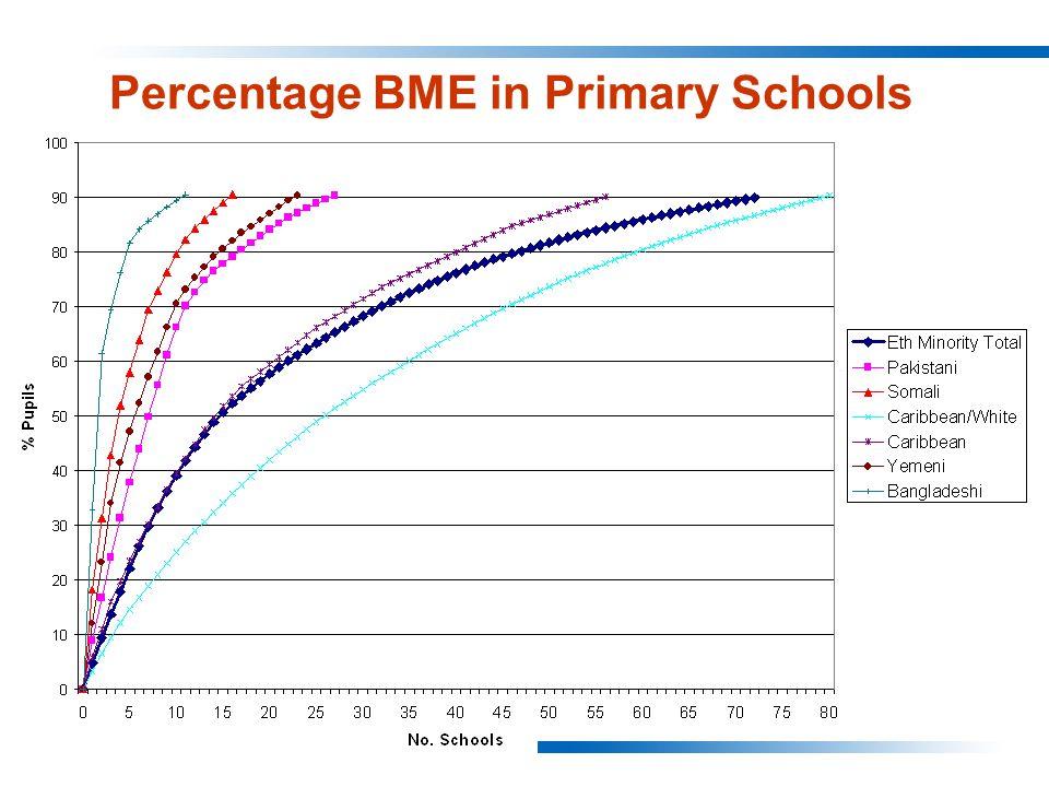 Percentage BME in Primary Schools