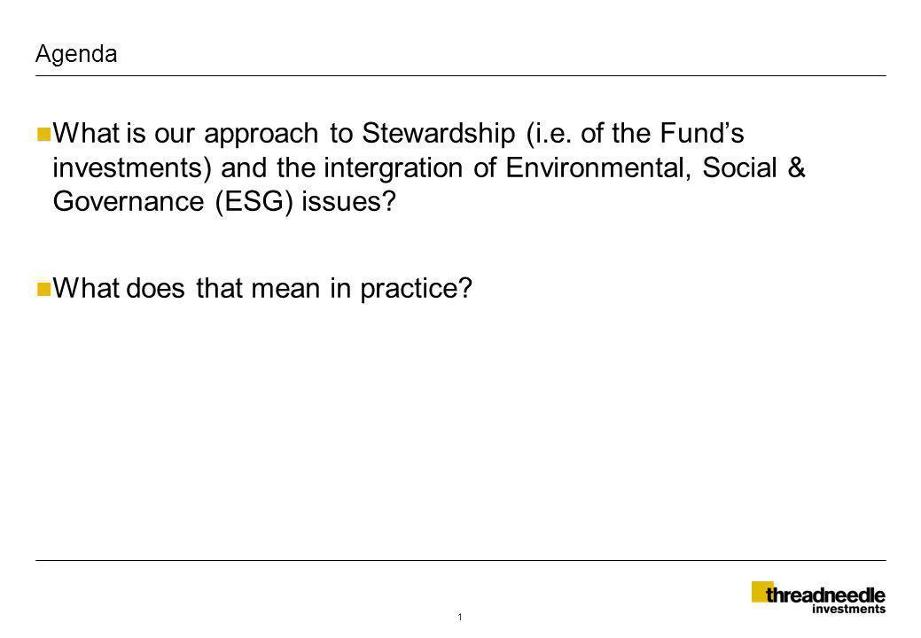 Stewardship & engagement 12