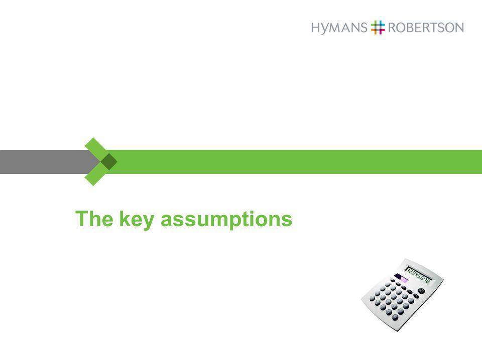 The key assumptions