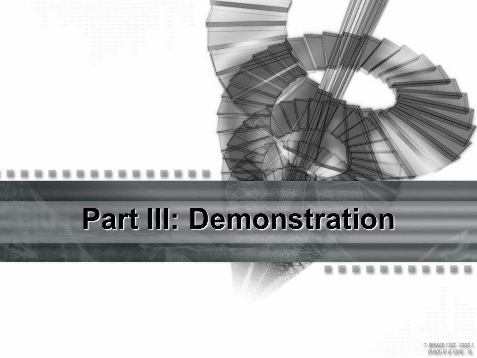 Part III: Demonstration