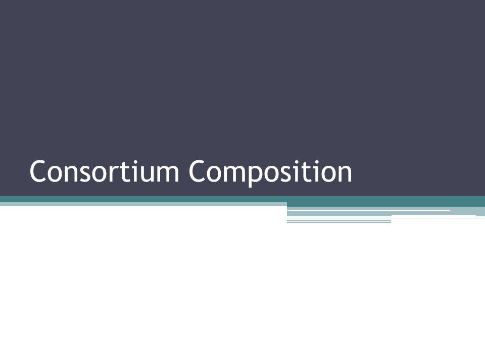 Consortium Composition