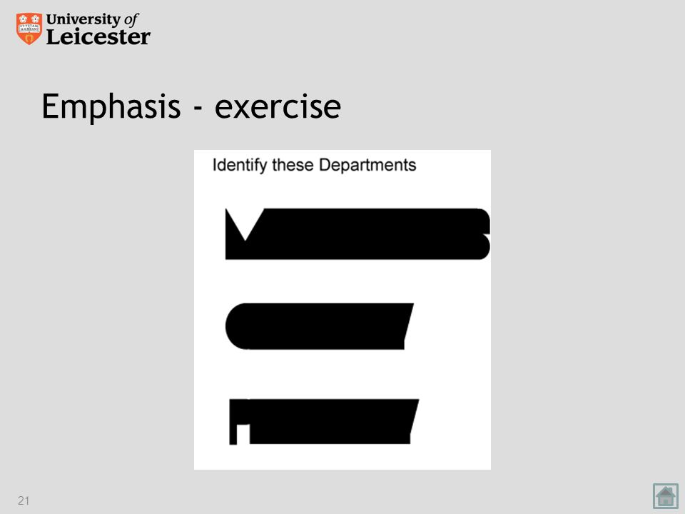 Emphasis - exercise 21