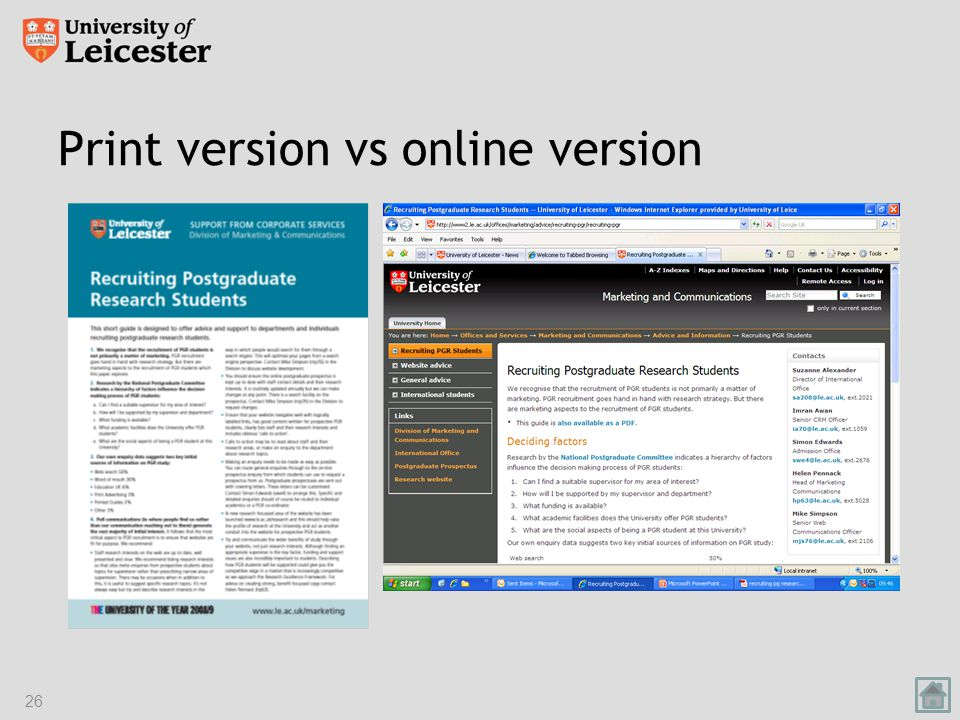 Print version vs online version 26