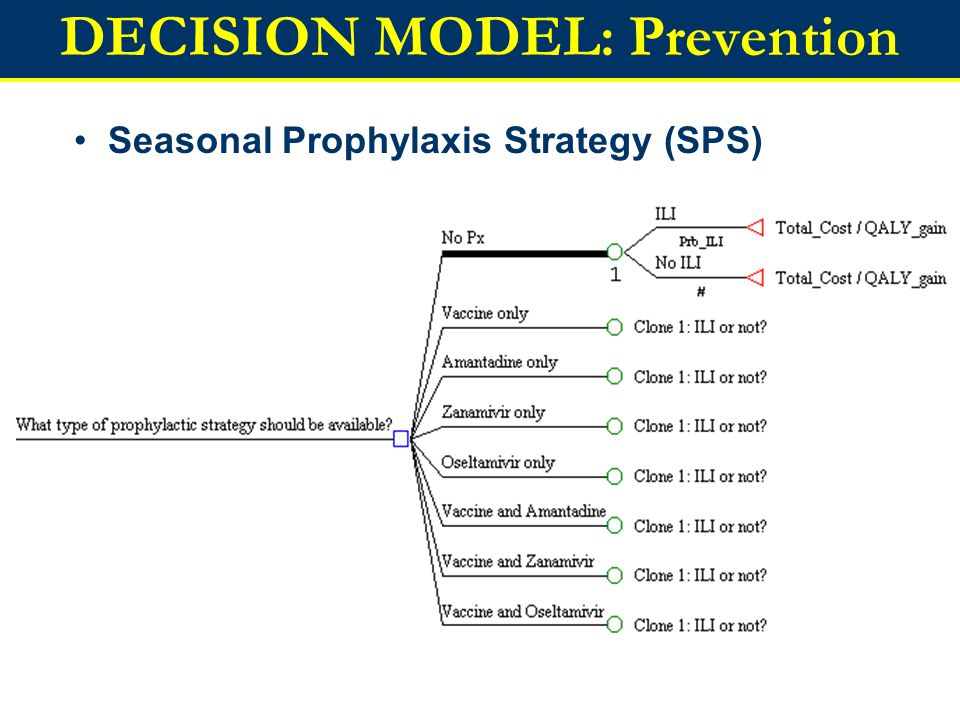DECISION MODEL: Prevention Seasonal Prophylaxis Strategy (SPS)