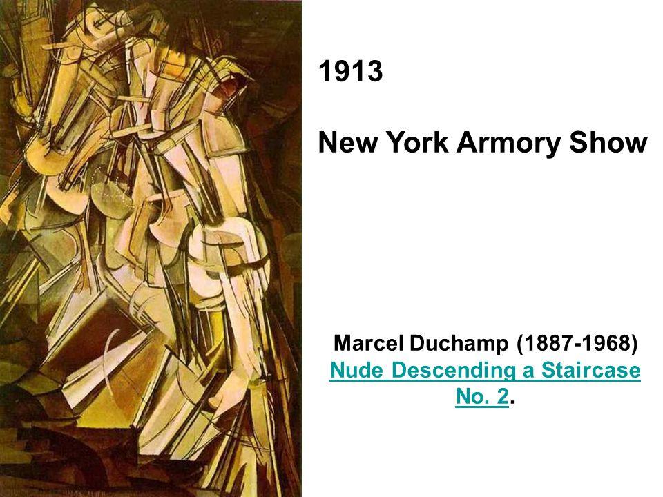 1913 New York Armory Show Marcel Duchamp (1887-1968) Nude Descending a Staircase No. 2No. 2.