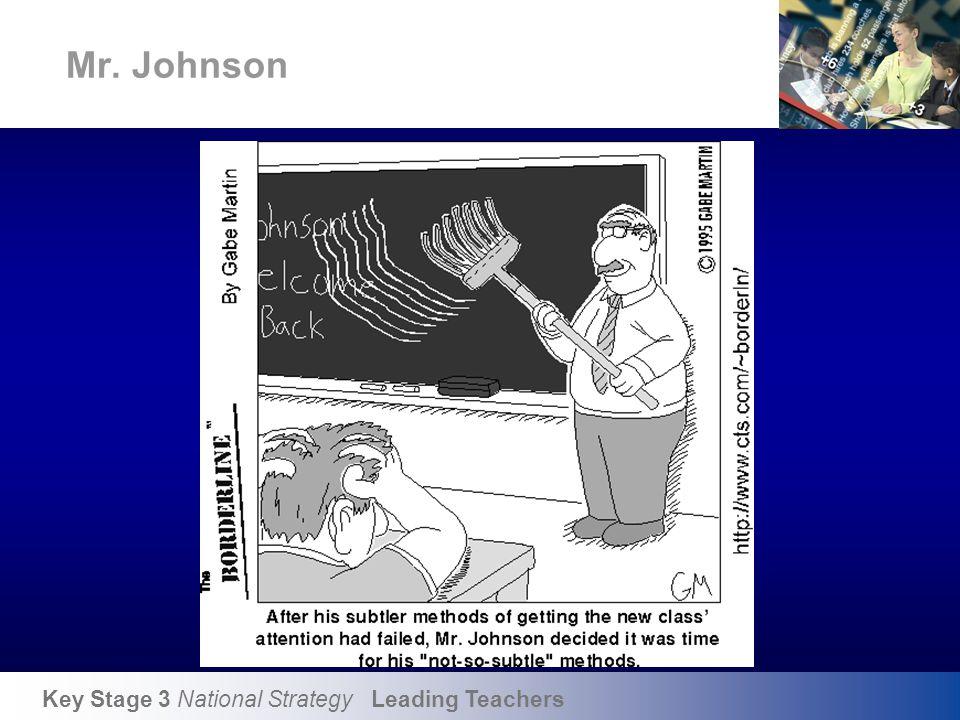 Key Stage 3 National Strategy Leading Teachers Mr. Johnson