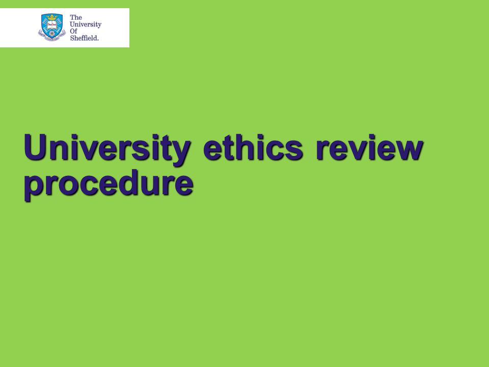 University ethics review procedure