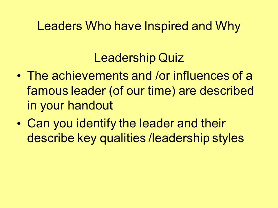 What Are Our Leadership Challenges.