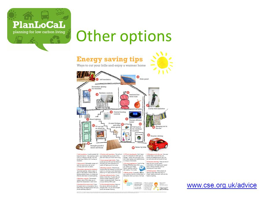 Other options www.cse.org.uk/advice