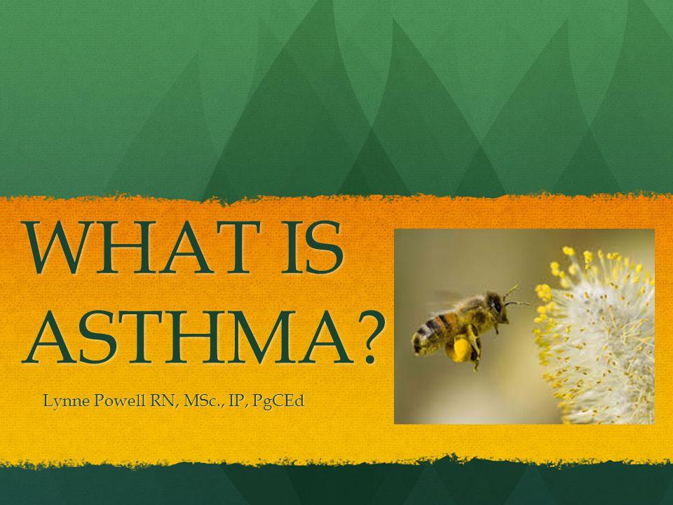 WHAT IS ASTHMA? Lynne Powell RN, MSc., IP, PgCEd