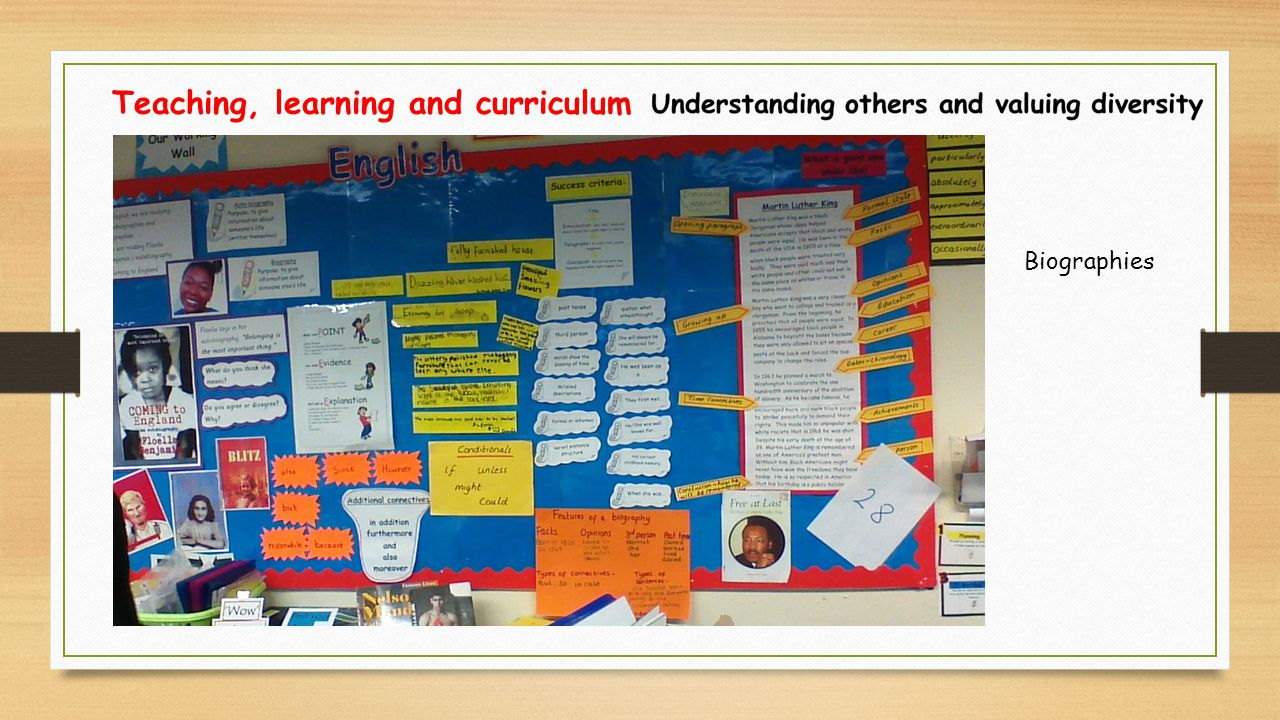 Teaching, learning and curriculum Biographies