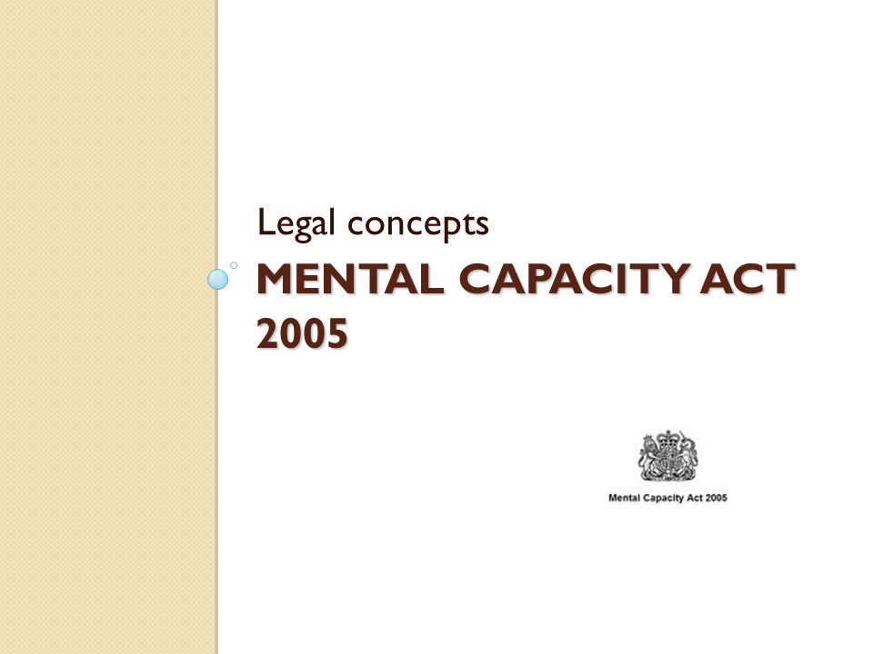 MENTAL HEALTH ACT Legal Aspects