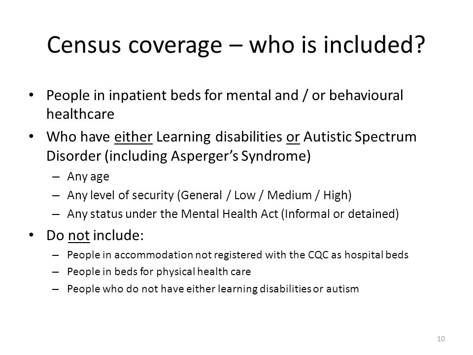 Census coverage – who is included.