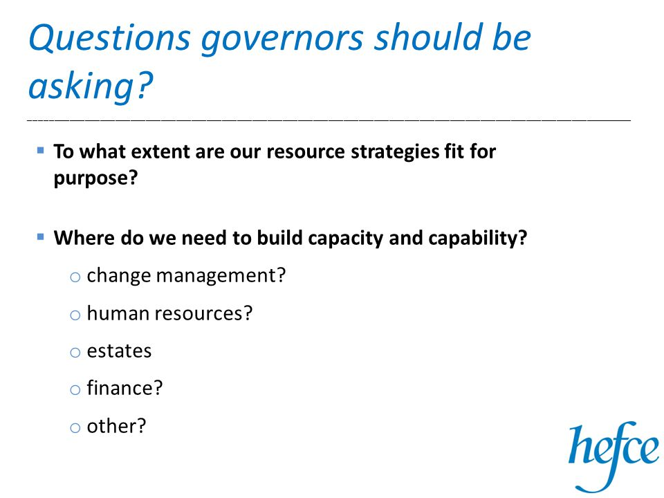 Questions governors should be asking.