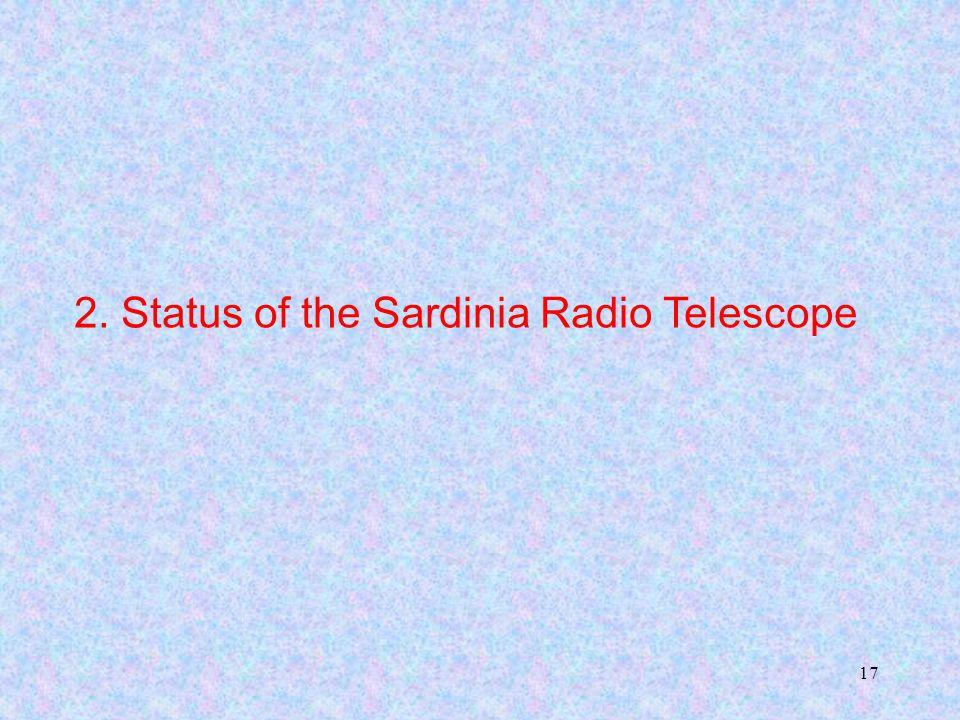 17 2. Status of the Sardinia Radio Telescope