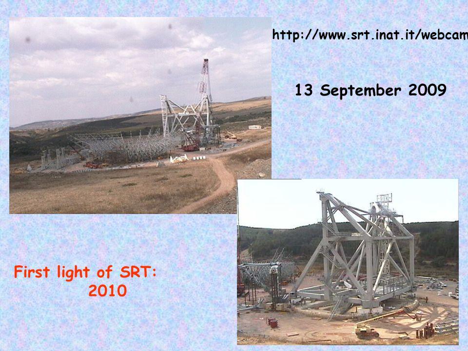 22 13 September 2009 First light of SRT: 2010 http://www.srt.inat.it/webcam