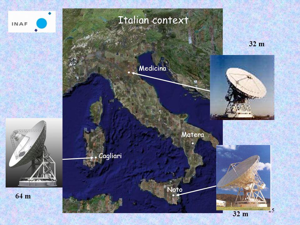 25 Medicina Noto Cagliari Italian context 64 m 32 m Matera