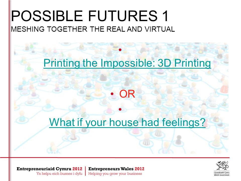 Printing the Impossible: 3D Printing OR What if your house had feelings.
