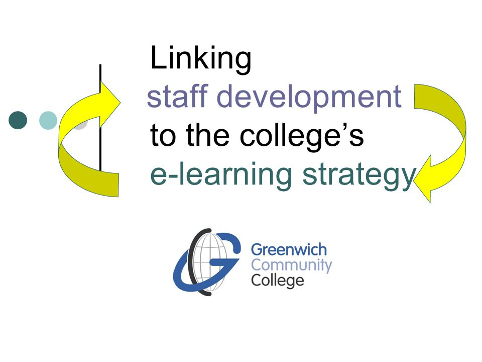 Linking staff development to the college's e-learning strategy