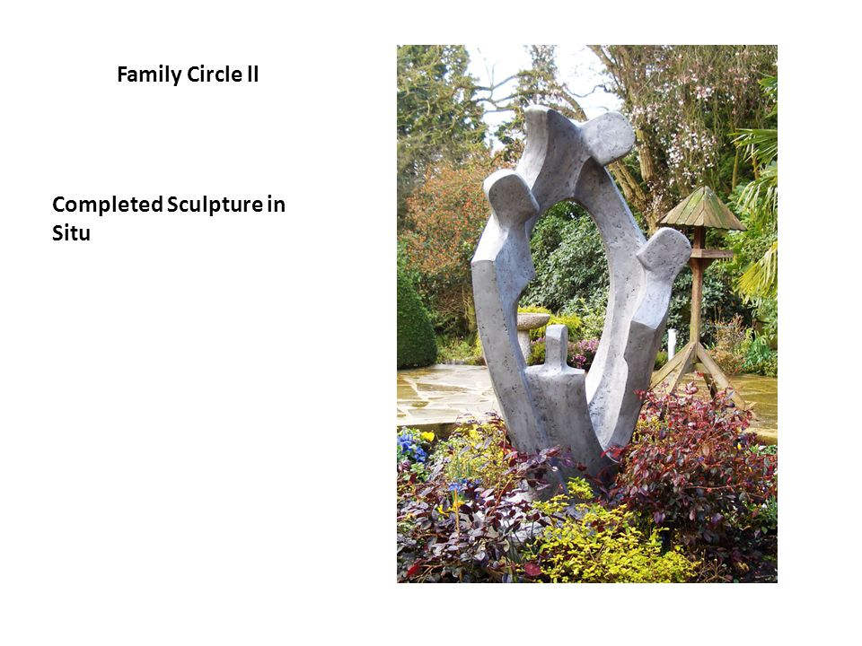 Family Circle ll Completed Sculpture in Situ