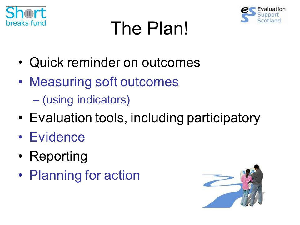 Reminder Outcomes: The change or difference That 'comes out' of your activities Tips: Use change words (e.g.