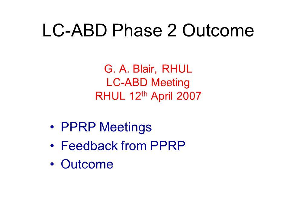 LC-ABD Phase 2 Outcome G. A.