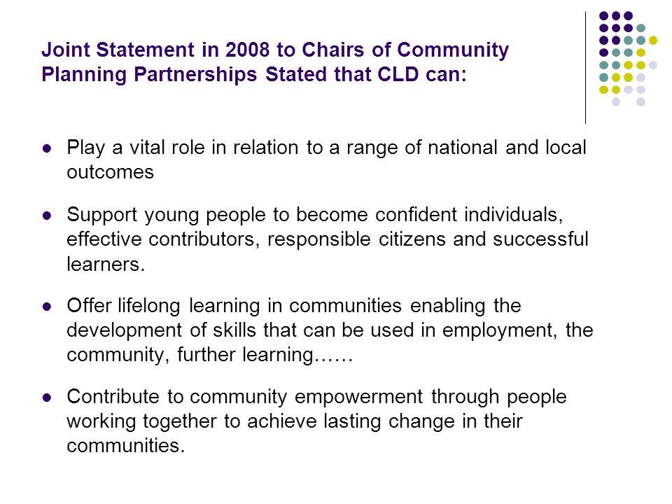 Distinctive Contribution.People choose to participate.