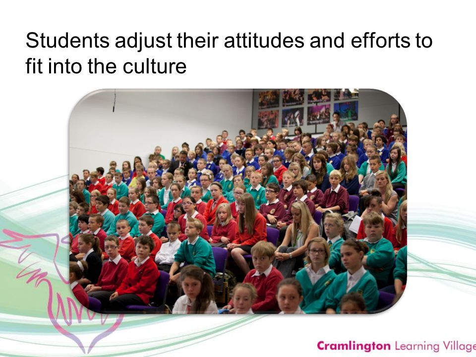 Students adjust their attitudes and efforts to fit into the culture
