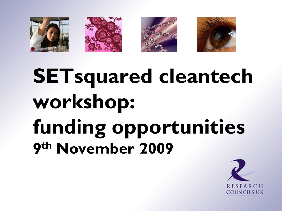 Funding opportunities in Clean Energy EPSRC Networks  The main objective of Networks is to create new interdisciplinary research communities and topics, by developing interaction between the research community and appropriate science, technology and industrial groups.