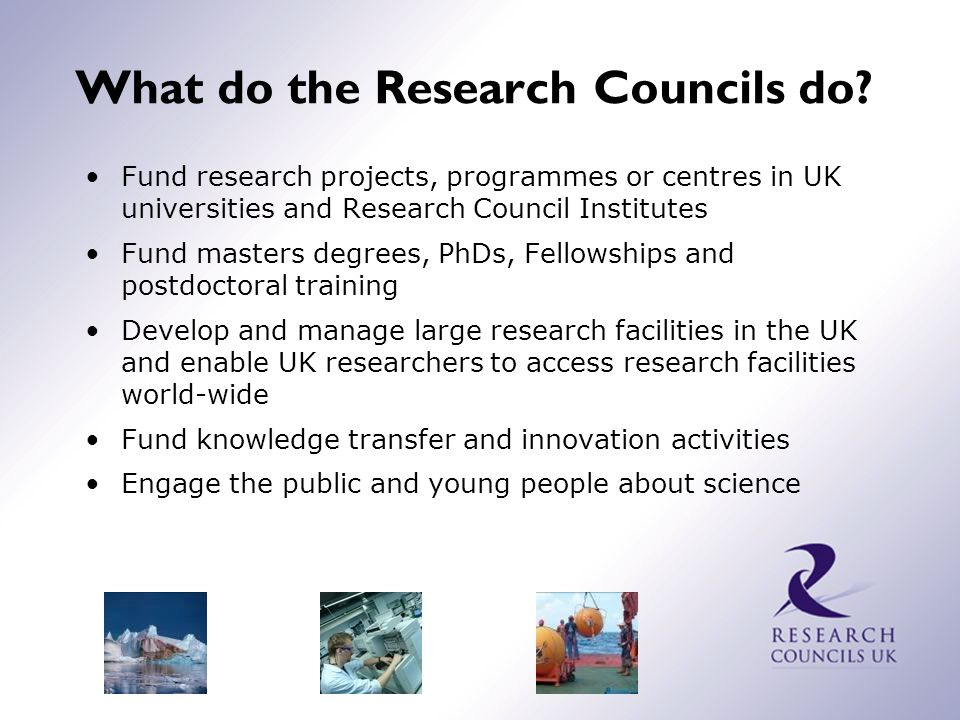 Research Council budgets