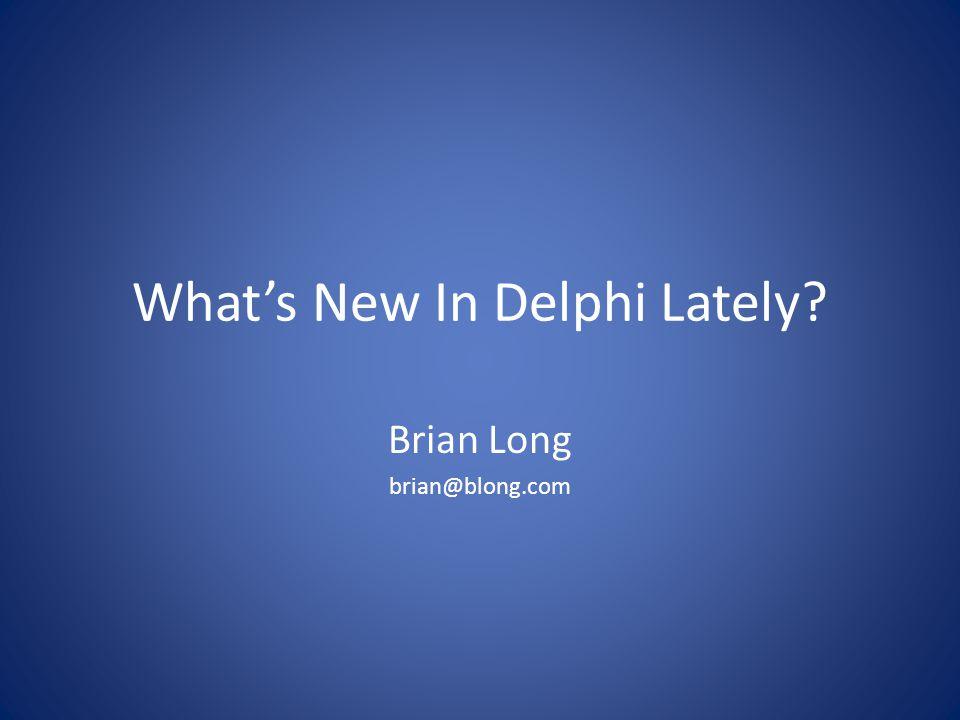 Recent releases Delphi 2007 (Spacely, Mar 2007) Delphi 2009 (Tiburón, Aug 2008) Delphi 2010 (Weaver, Aug 2009) (part of RAD Studio 2010) Delphi XE (Fulcrum, Aug 2010) (part of RAD Studio XE)