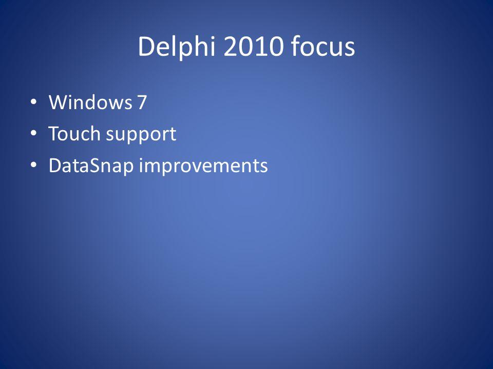 Delphi 2010 new features IDE Insight (Ctrl+.
