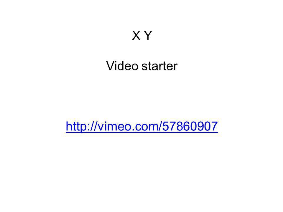 X Y Video starter http://vimeo.com/57860907 http://vimeo.com/57860907