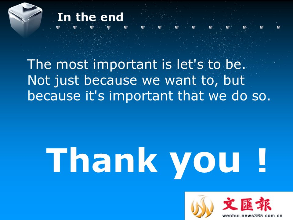 Your company slogan Thank you . The most important is let s to be.