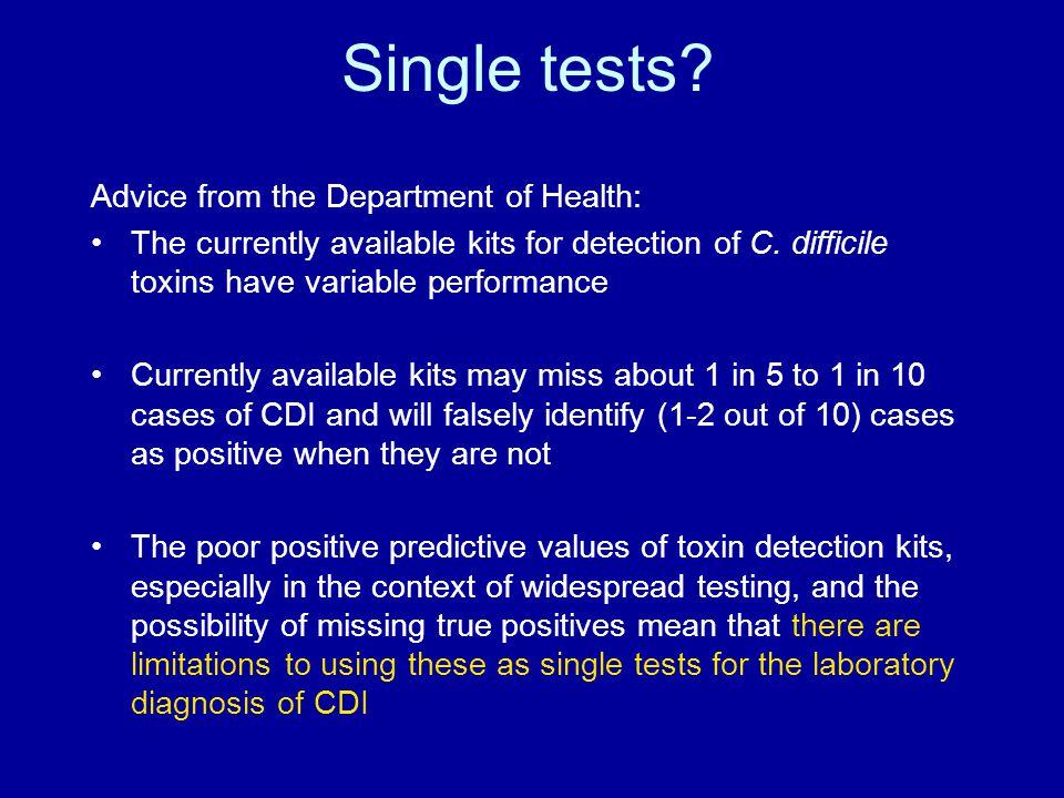 Single tests.