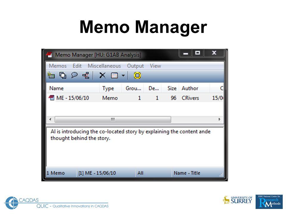 Memo Manager