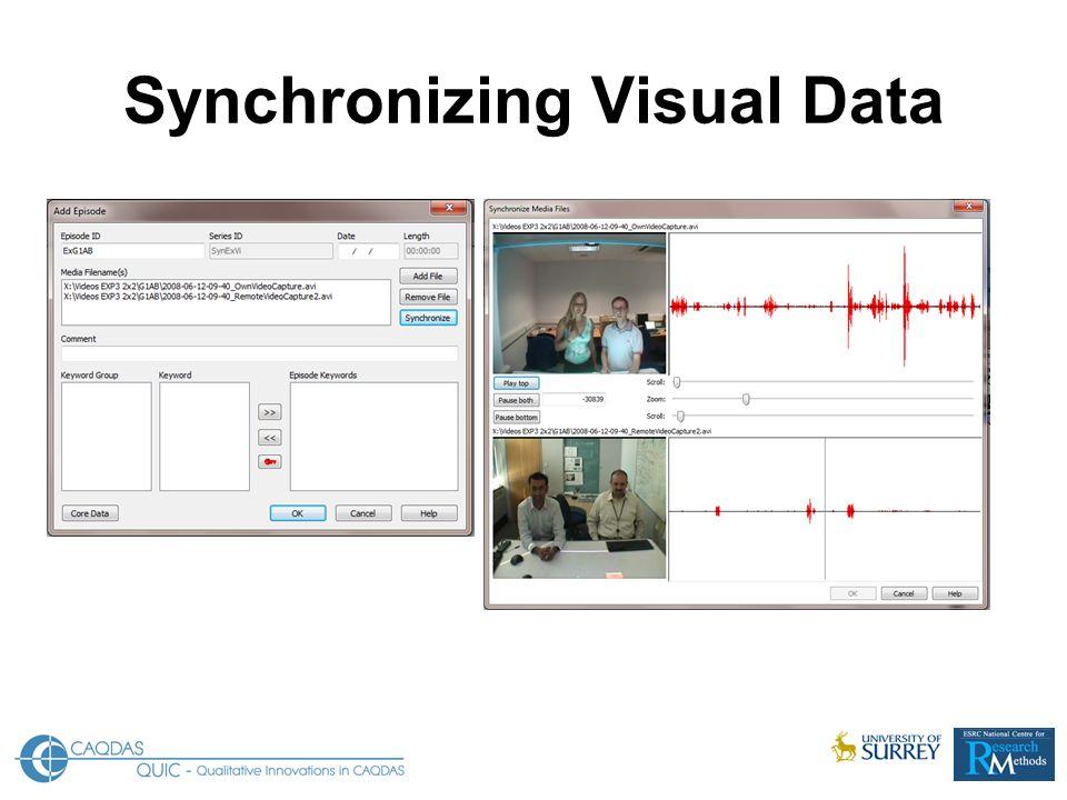 Synchronizing Visual Data