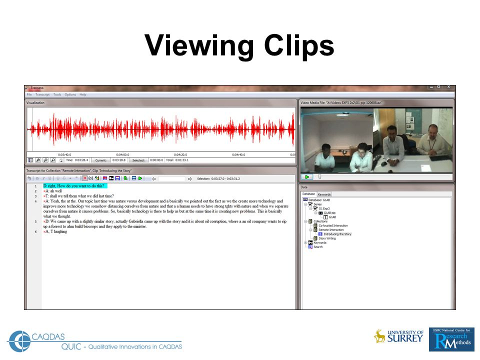 Viewing Clips