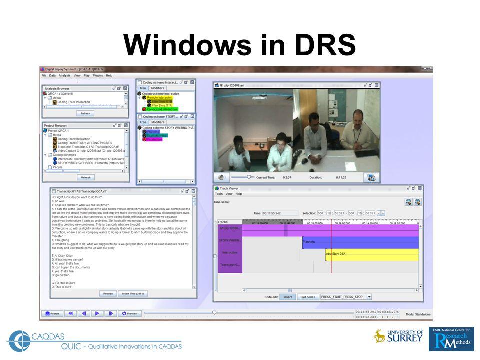 Windows in DRS